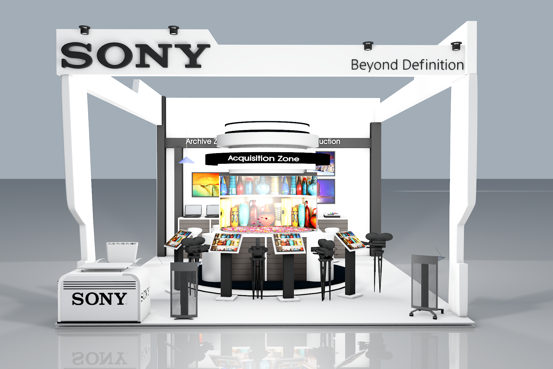 3d Exhibition Booth Design : Sony d exhibition booth design modelling
