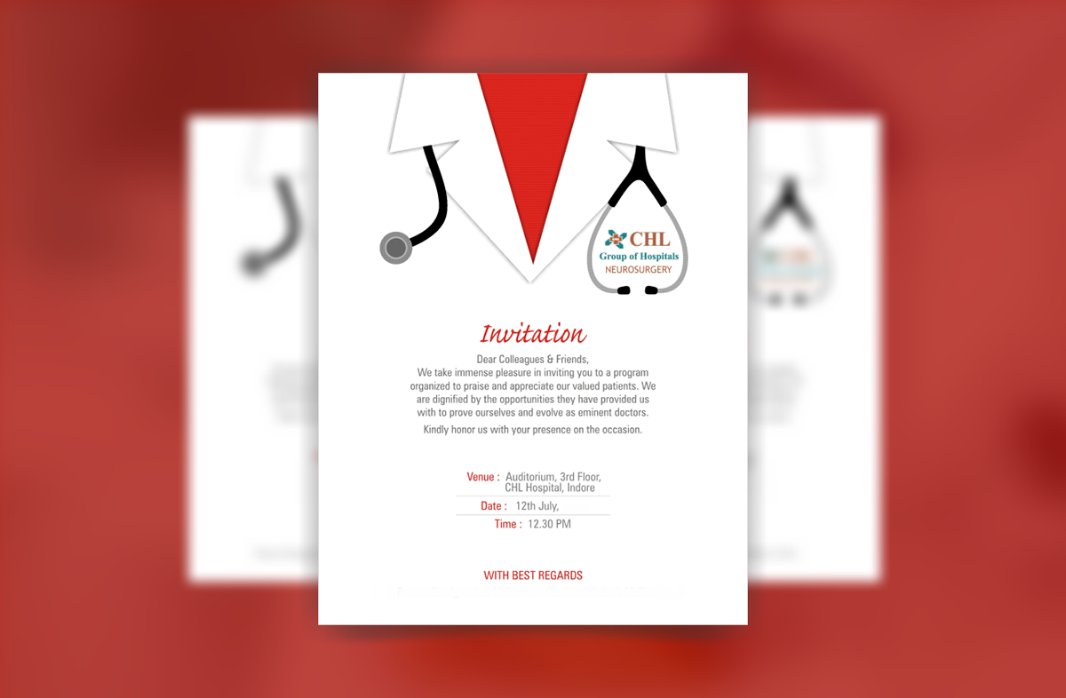 Hospital Invitation Card Design Best Custom Invitation Template