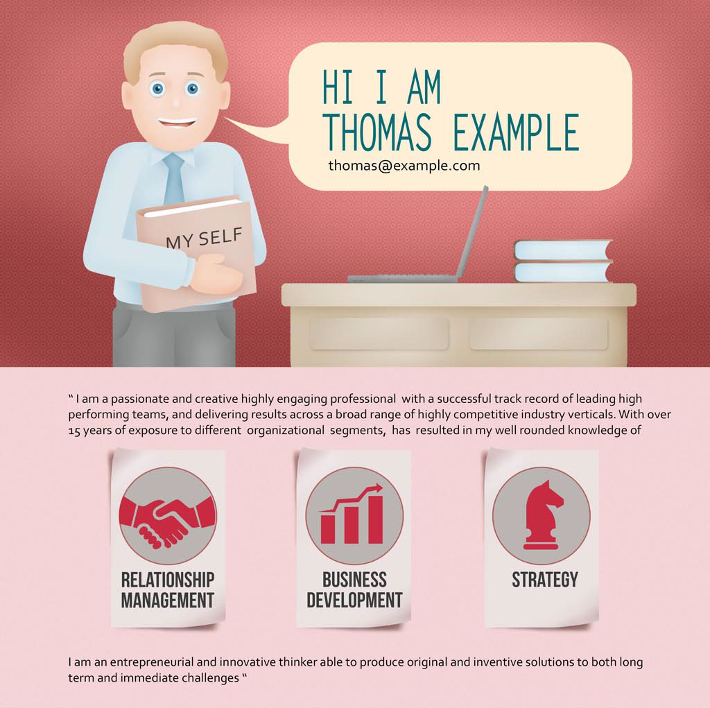 infographic resume of corporate sales manager digital art